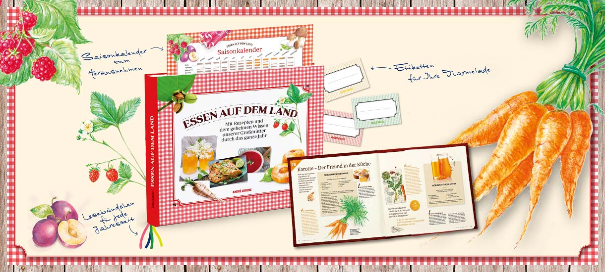 """Unser Kochbuch""""Essen auf dem Land"""" bietet viele leckere Gerichte aus dem Alpenland."""