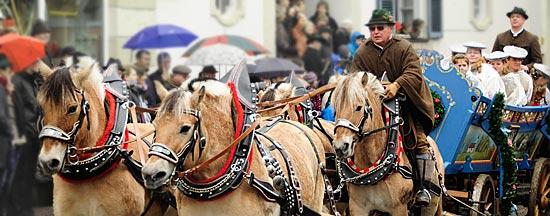 Pferdegespann zum Leonharditag