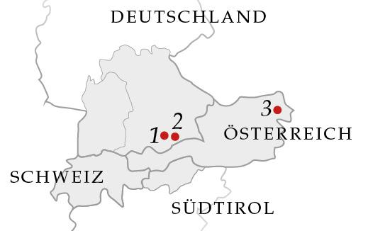 Karte – Drei Leonhardiritte im Alpenland