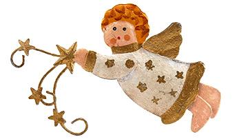Kleiner Engel als Adventskranz-Figur