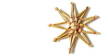 Der Stern steht für Hoffnung – und das Stroh für die Krippe des Jesuskindes