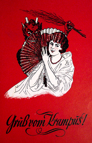 Nikolaus – Illustration mit Krampus