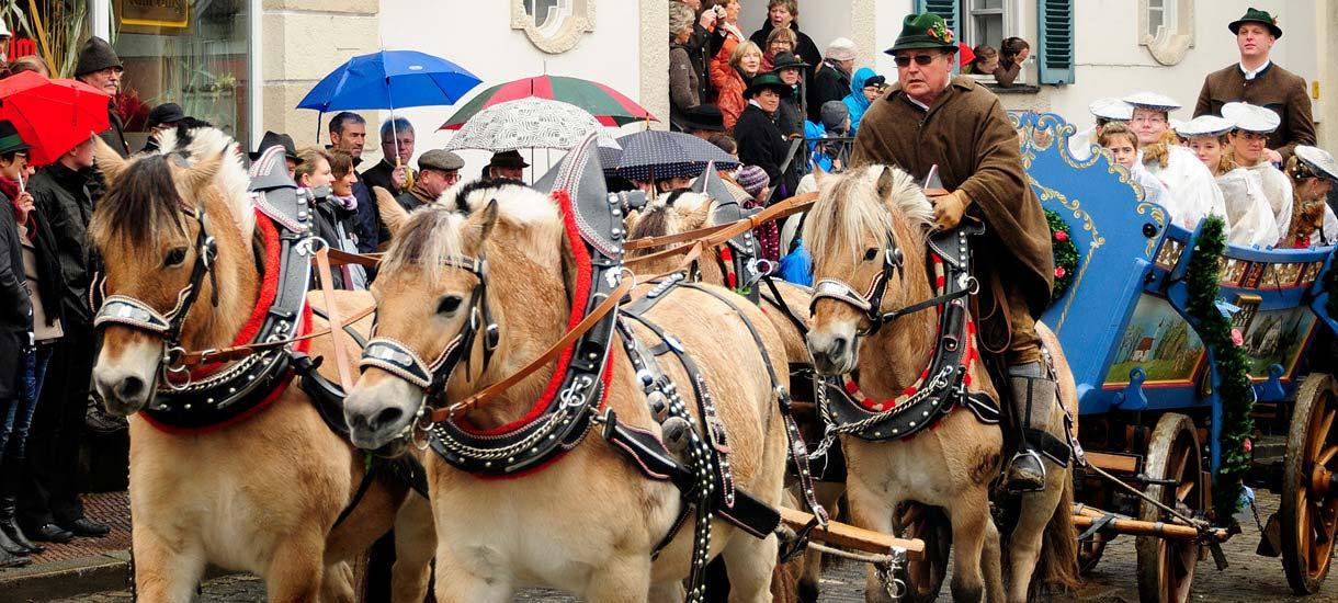Pferdegespanne zum Leonharditag