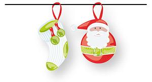 Nikolaus-Socke und Weihnachtsmann