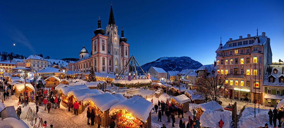 Mariazeller Adventsmarkt – einer der schönsten Weihnachtsmärkte im Alpenland (Foto: Tourismusverband Mariazeller Land)