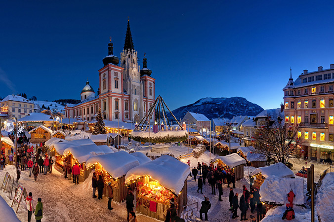 Der Mariazeller Adventsmarkt (Foto: Tourismusverband Mariazeller Land)