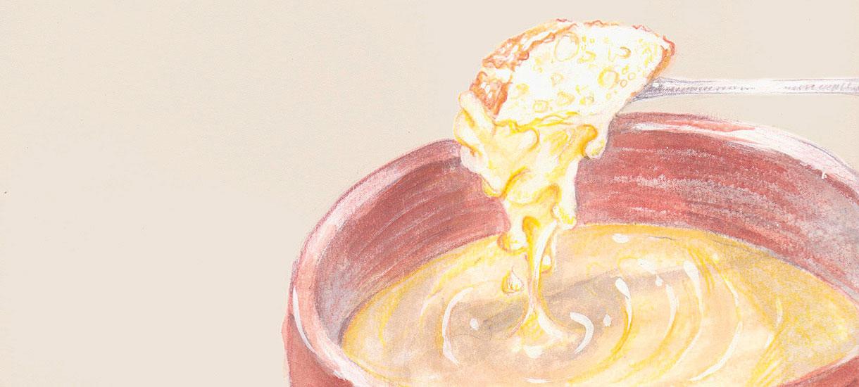 Illustration Käsefondue