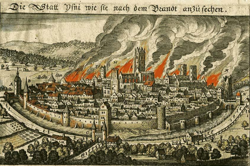 Heiliger Florian - Stadtbrand im mittelalterlichen Isny