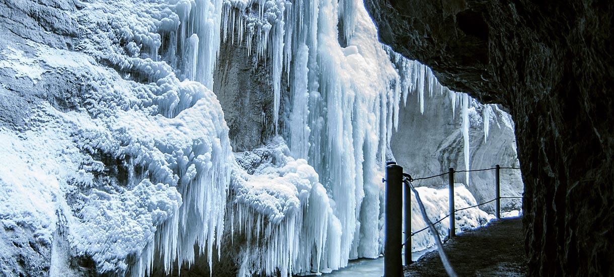 Eiszapfen in der Partnach-Klamm