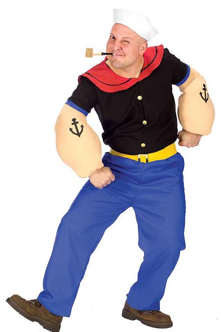Verkleidung im Fasching - Popeye