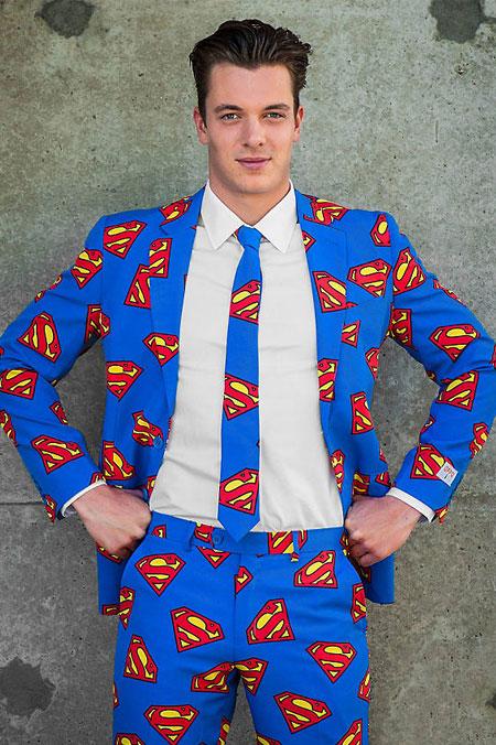 Verkleidung im Fasching - Supermann