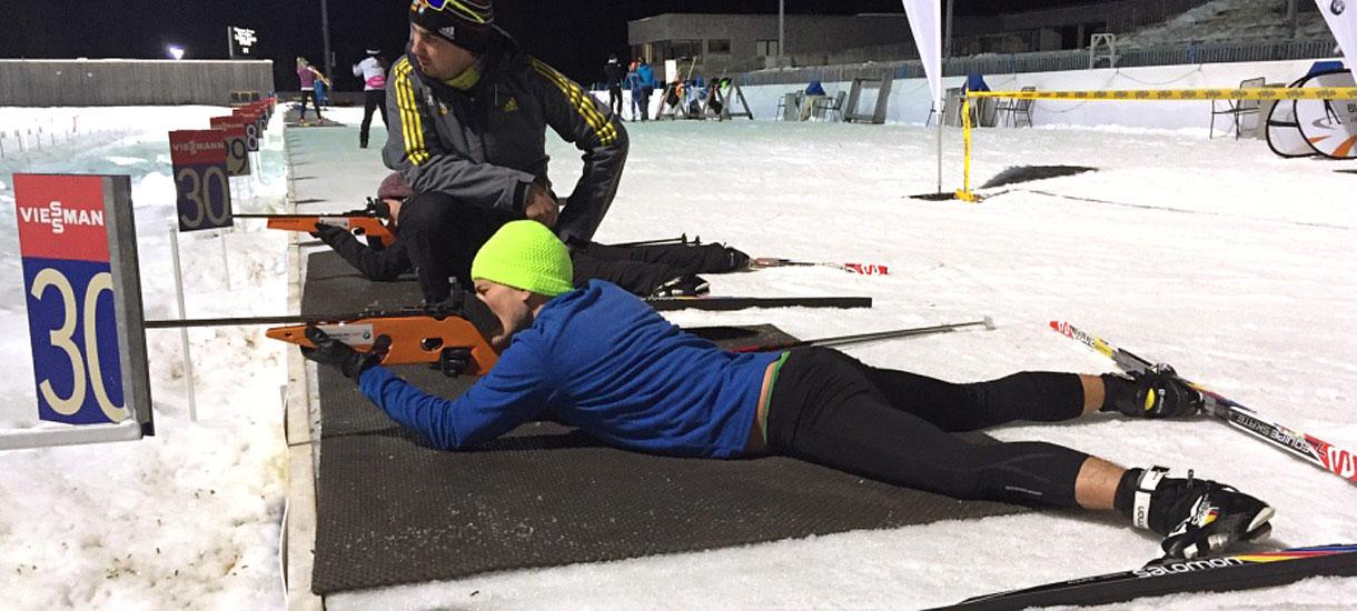 Biathlon-Camp Ruhpolding: Am Schießstand