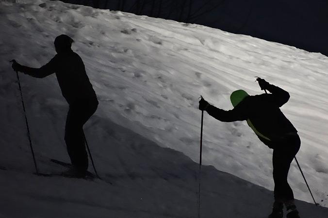 Diagonalskating im Biathloncamp Ruhpolding