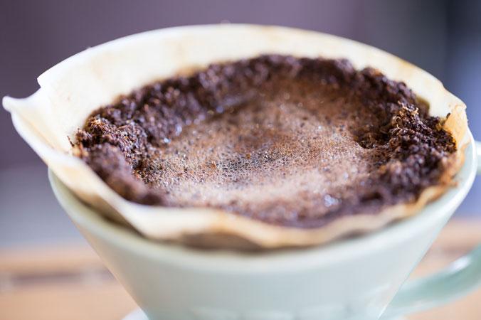 Natürlicher Dünger - Kaffeesatz