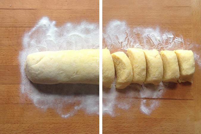 Apfelmaultaschen – Teig rollen