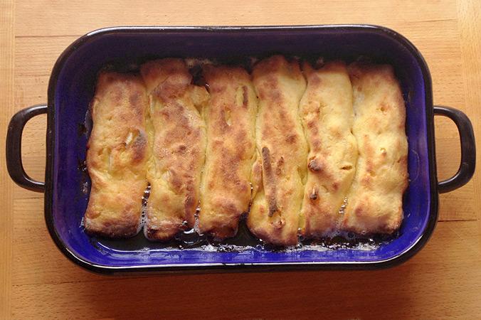 Apfelmaultaschen – In Butter herausbacken