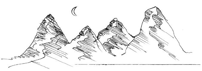 Vierbergelauf – Zeichnung der vier Berge