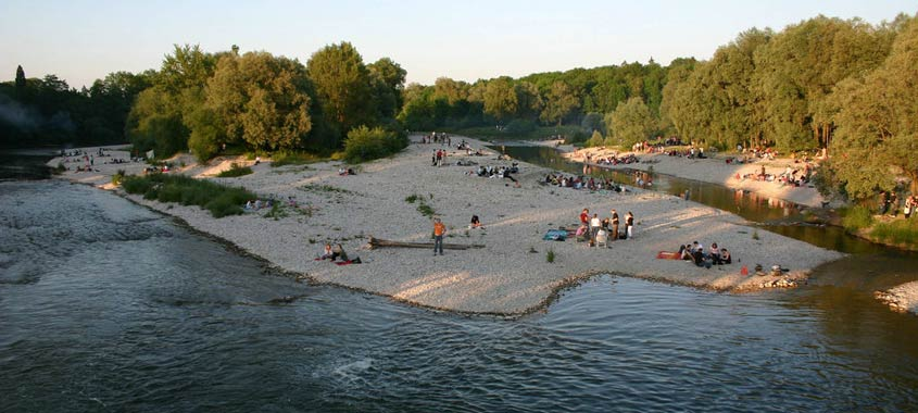 Die schönsten Grillplätze: Flaucher in München