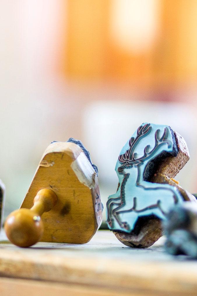 Stempel für die Hirsch-Dekore