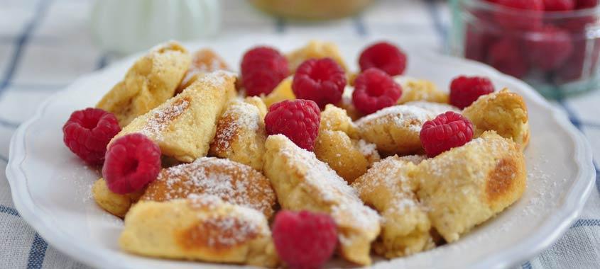Himbeer-Rezepte: Topfen-Schmarrn mit Himbeeren