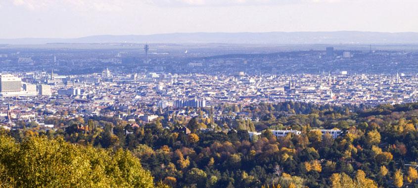 Ausblick auf die Stadt Wien