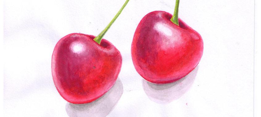 Illustration von zwei Kirschen