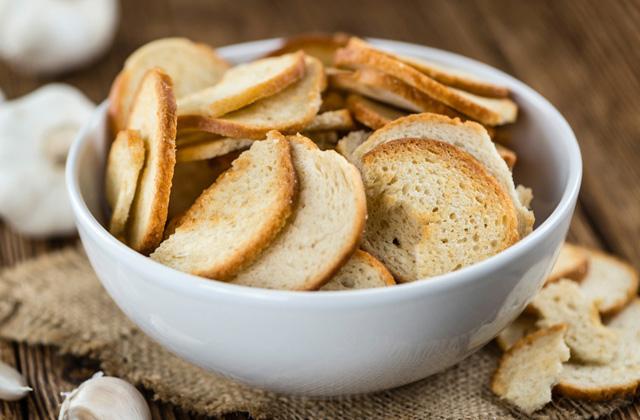 Brot einfrieren: Brotchips
