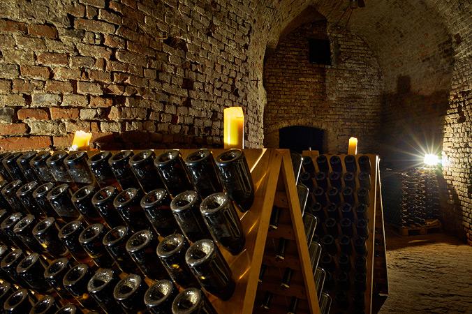 """In diesem Kellergewölbe unter Freising reift das Bier zum """"Cerevisium"""" – neun Monate braucht es."""
