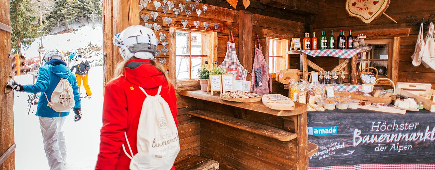 Veranstaltungstipps März: Der höchstgelegene Bauernmarkt der Alpen