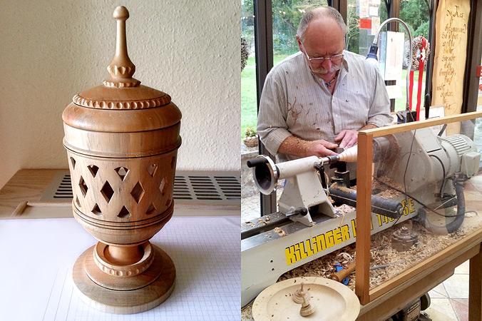 Veranstaltungstipps März: Heinz Borst führt in Mein Platzl seine Drechselkunst vor