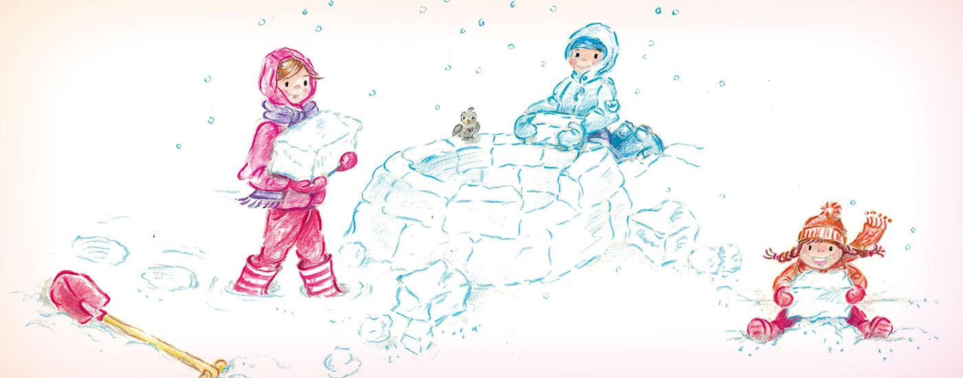 kinderspiele fuer herbst winter iglu bauen 1400x550