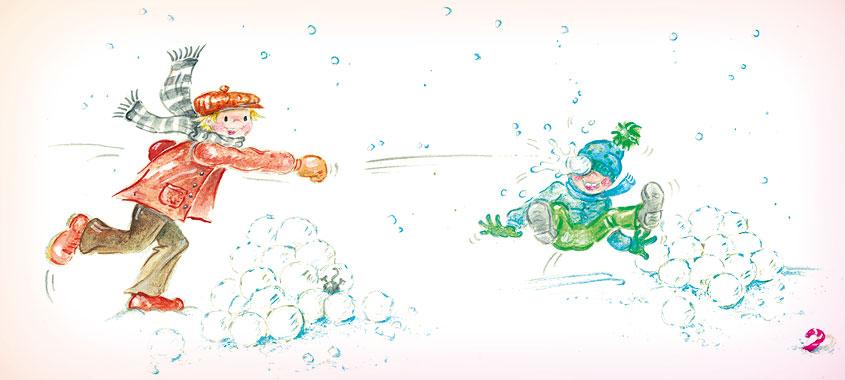 kinderspiele fuer herbst winter schneeballschlacht 845x380