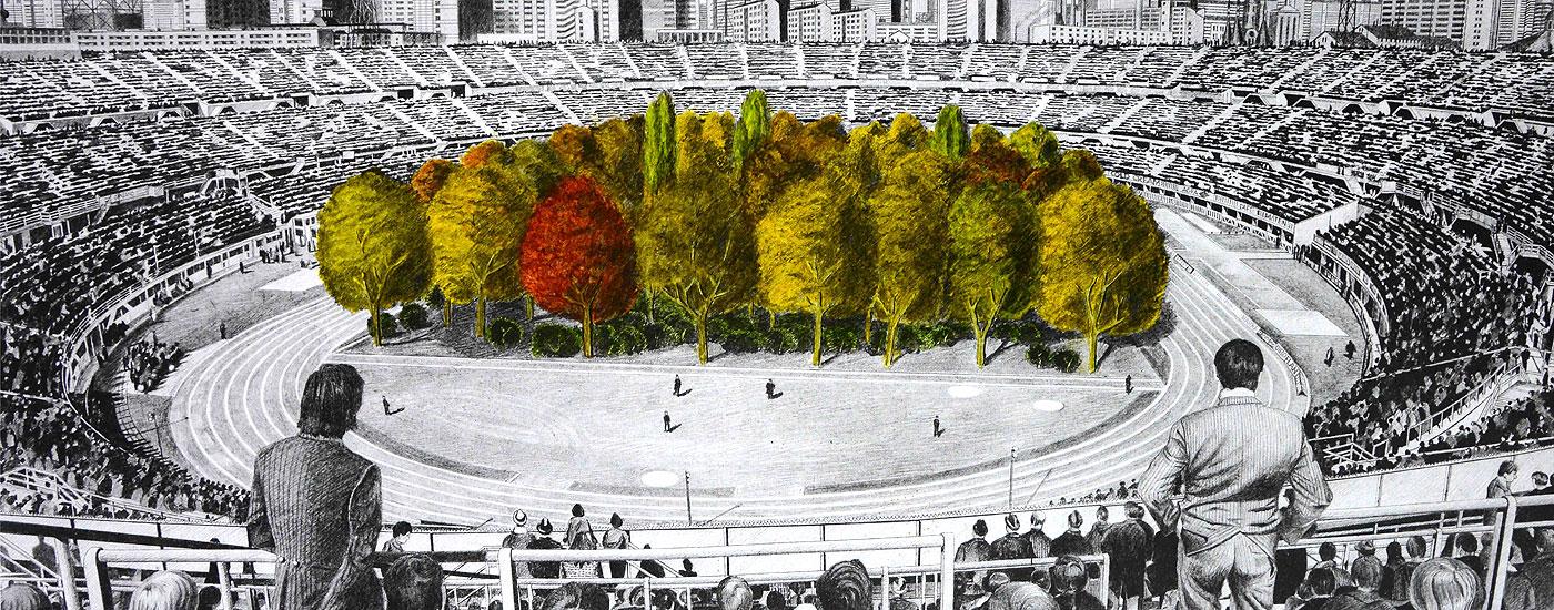 """Max Peintners Bleistiftzeichnung """"Die ungebrochene Anziehungskraft der Natur"""""""