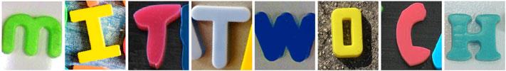 """Das Wort """"Mittwoch"""", zusammengesetzt aus Kunststoffbuchstaben"""