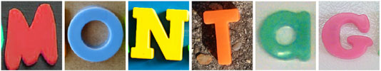 """Das Wort """"Montag"""", zusammengesetzt aus Kunststoffbuchstaben"""